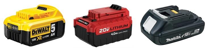 cordless angle grinder batteries